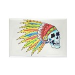 Indian Chief Skull Tattoo Rectangle Magnet (10 pac