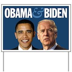Obama-Biden Team Blue Yard Sign