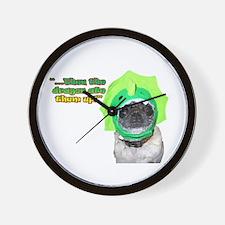 Dragon Dog Wall Clock