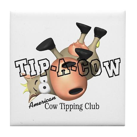 Cow Tipping Tile Coaster