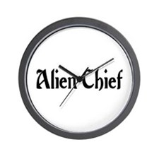 Alien Chief Wall Clock