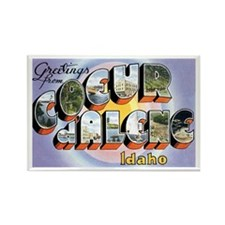 Coeur d'Alene Idaho ID Rectangle Magnet (10 pack)