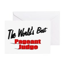 """The World's Best Pageant Judge"" Greeting Cards (P"