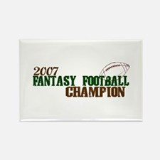 2007 Fantasy Footbal Champion Rectangle Magnet