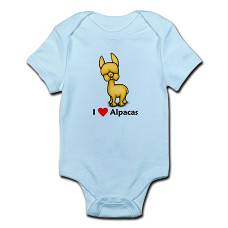 I Love Alpacas Infant Bodysuit