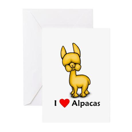 I Love Alpacas Greeting Cards (Pk of 10)