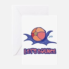 Let's Bounce Beach Ball Greeting Card