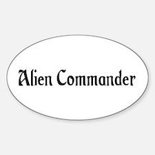 Alien Commander Oval Decal