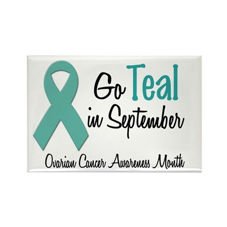 Ovarian Cancer Awareness Month 1.2 Rectangle Magne