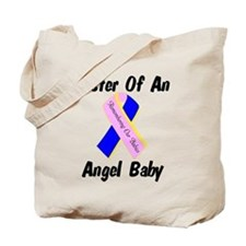Sister Of An Angel Baby - Rib Tote Bag