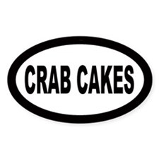 Crab Cakes Oval Decal