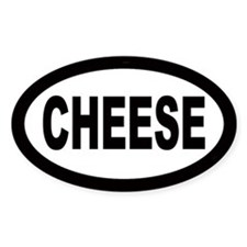 Cheese Oval Bumper Stickers