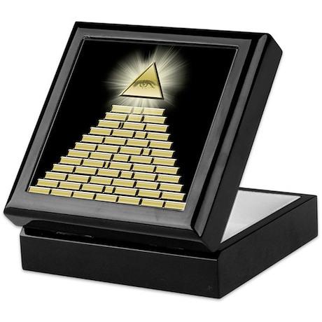 All Seeing Eye Pyramid 2 Keepsake Box