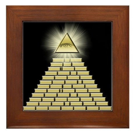 All Seeing Eye Pyramid 2 Framed Tile