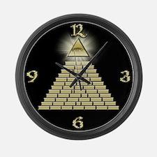All Seeing Eye Pyramid 2 Large Wall Clock