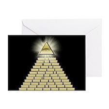 All Seeing Eye Pyramid 2 Greeting Card