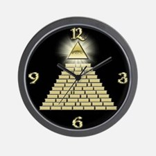 All Seeing Eye Pyramid 2 Wall Clock