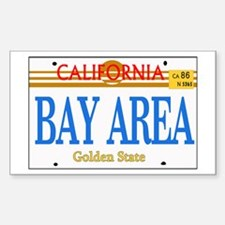 BAY AREA -- LINCENSE PLATE Rectangle Decal