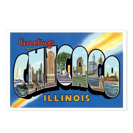 Chicago Illinois IL Postcards (Package of 8)