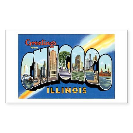 Chicago Illinois IL Rectangle Sticker 50 pk)
