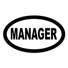 Manager Oval Decal