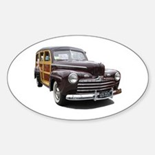 Helaine's Ford Woody Oval Decal