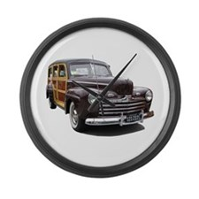 Helaine's Ford Woody Large Wall Clock