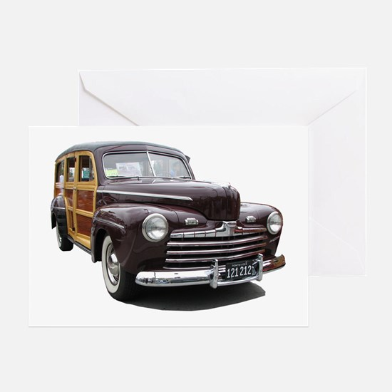 Helaine's Ford Woody Greeting Card