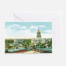 Springfield Illinois IL Greeting Card