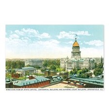 Springfield Illinois IL Postcards (Package of 8)