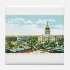 Springfield Illinois IL Tile Coaster