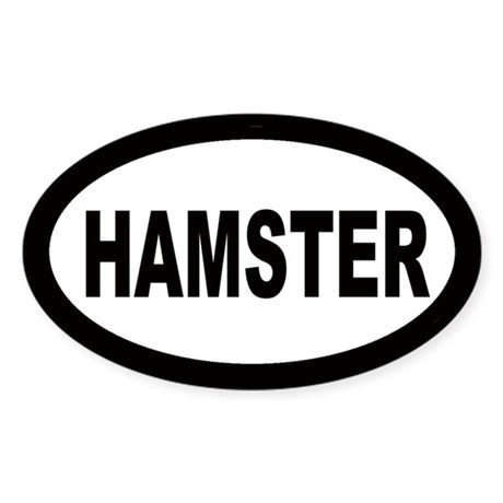 Hamster Oval Sticker