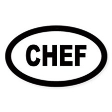 Chef Oval Bumper Stickers