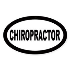 Chiropractor Oval Decal