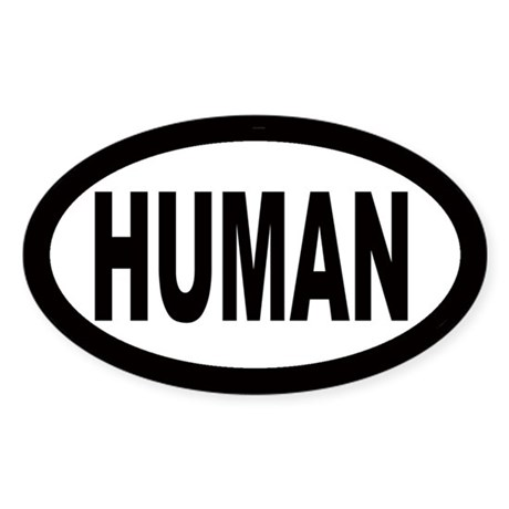 Human Oval Sticker