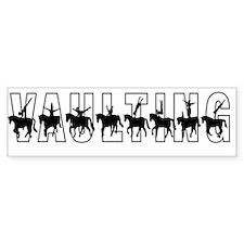 Vaulting Silhouettes Bumper Bumper Sticker