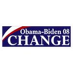 Obama-Biden 08: Change! Bumper Sticker