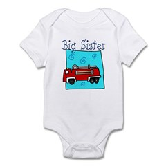 Firetruck Big Sister Infant Bodysuit