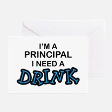 Principal Need a Drink Greeting Cards (Pk of 10)