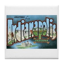 Indianapolis Indiana IN Tile Coaster