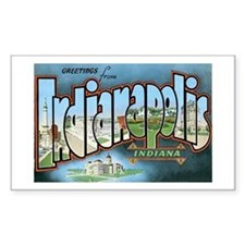 Indianapolis Indiana IN Rectangle Decal