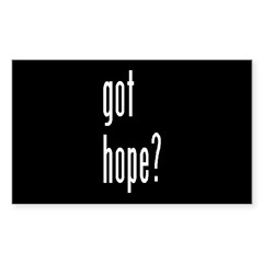 got hope? Rectangle Decal