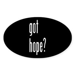 got hope? Oval Decal