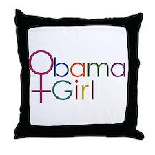 Obama Girl Throw Pillow