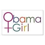Obama Girl Rectangle Sticker