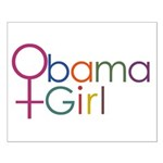 Obama Girl Small Poster