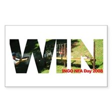 INGO NFA Day 2008 - WIN - Rectangle Decal