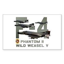 F-4 Wild Weasel Phantom Rectangle Decal