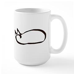 Calligraphic Kitty Mug