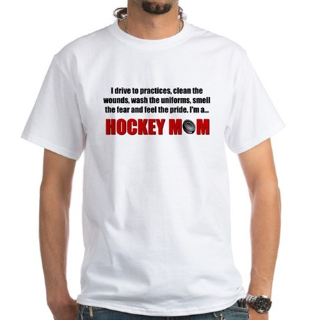 Hockey Mom White T-Shirt